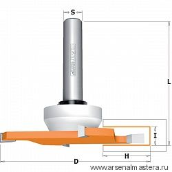 CMT 922.033.11B  Фреза концевая пазовая для искусственного камня Z4 S=12X70 D=92x6,35x82,5 RH