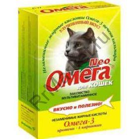 Витамины Омега для Кошек 90т (БИОТИН, морские водоросли)