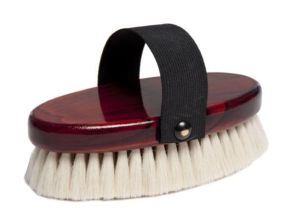 Щетка для морды, мягчайший козий волос на деревянной лакированной основе