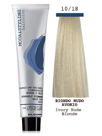 Elgon MODA&STYLING Перманентная крем-краска 10/18 Чистый блонд слоновая кость