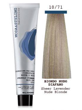 Elgon MODA&STYLING Крем-краска 10/71 Чистый блонд прозрачная сирень