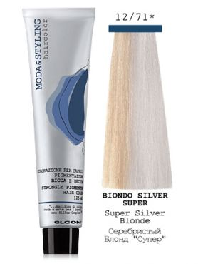 Elgon MODA&STYLING Крем-краска 12/71 Серебристый блонд супер осветляющий