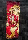"""Схема - закладка для вышивки крестом """"Дом Ланистеров"""". Отшив"""