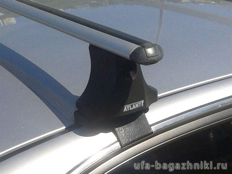 Багажник на крышу Hyundai Sonata 5, Атлант, аэродинамические дуги