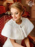 Норковая накидка для свадьбы купить в Москве