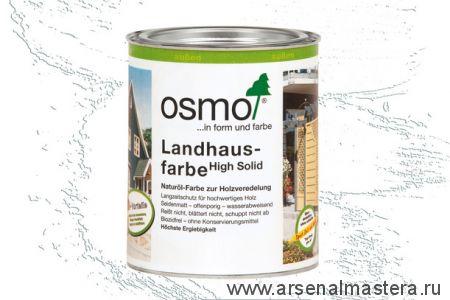 Непрозрачная краска для наружных работ Osmo Landhausfarbe 2101 белая 0,75 л