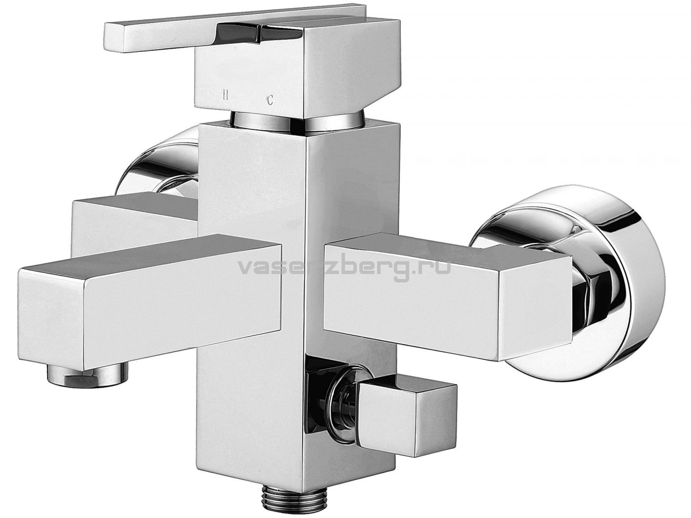 Смеситель для ванны Elghansa Kubus 23A9741