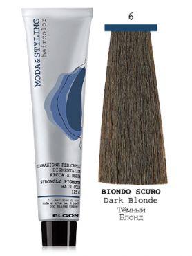 Elgon MODA&STYLING Перманентная крем-краска 6 Тёмный блонд