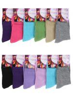 Женские носки однотонные (мин.заказ 3 уп)-18 руб