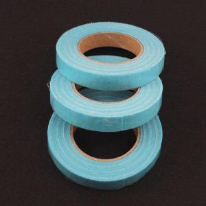 `Флористическая лента (тейп лента), ширина 12 мм, цвет голубой