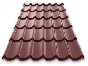 Металлочерепица Classic Optima 0,45 РЕ RAL8017 (шоколад) (лист)