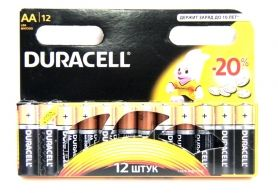 Батарейка алкалиновая DURACELL LR06 BL12 (12x12=144) ALKALINE АА