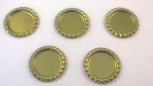 `Крышка, металл, внутренний диаметр 25 мм, наружный 31 мм, цвет №44 золото