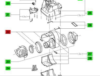 Двигатель (мотор) для пылесоса CT 33 E Festool 230-240V