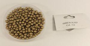 `Бусины, диаметр 6 мм, цвет 114, 10 шт
