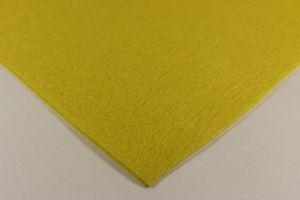 Фетр листовой, толщина 1 мм, размер 30х30 см, цвет №13 желтый (1уп = 4 листа)