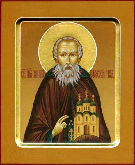 Пафнутий Боровский (рукописная икона)
