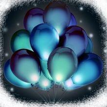 светодиодные шарики, светящиеся шары, шары, шарики, гелиевые, воздушные, заказать, доставка, Ярославль