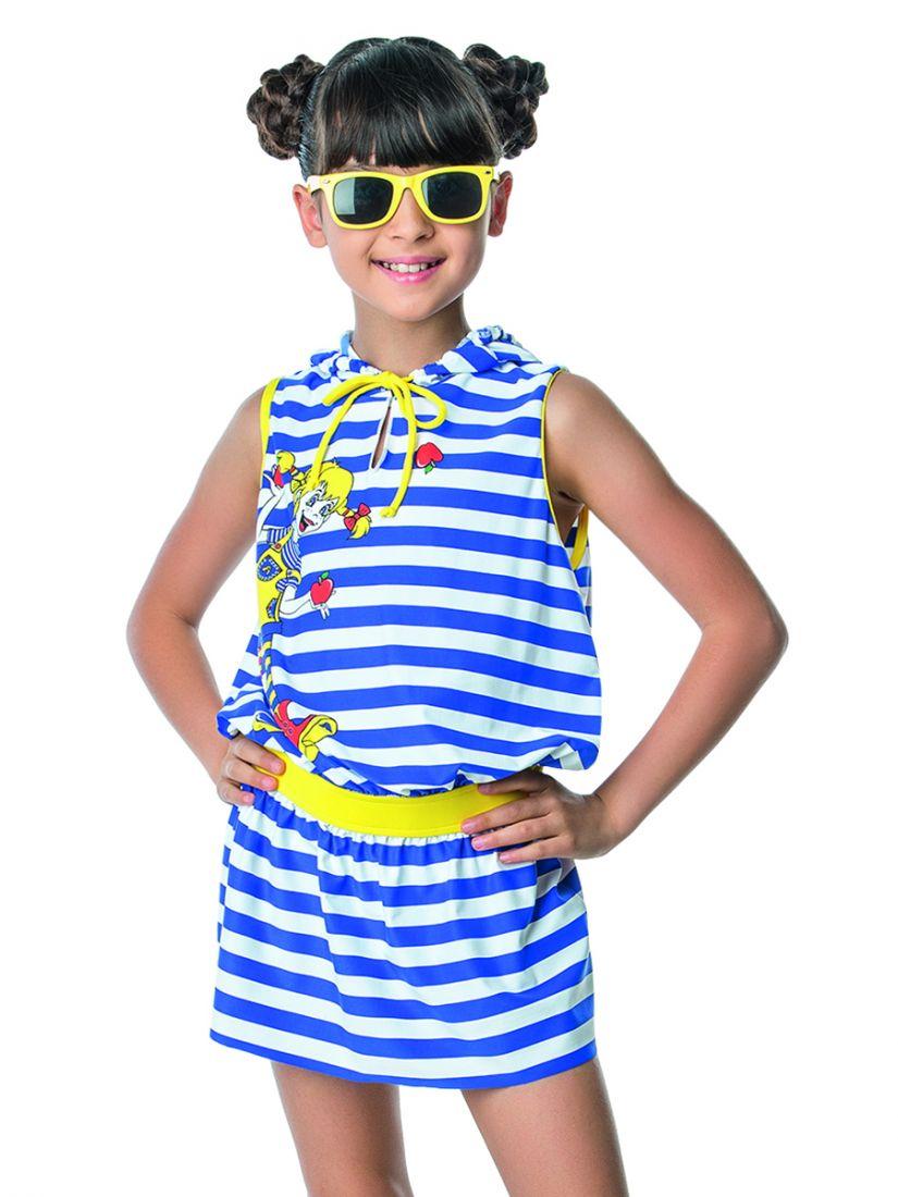 Пляжное платье для девочки 6-7 лет