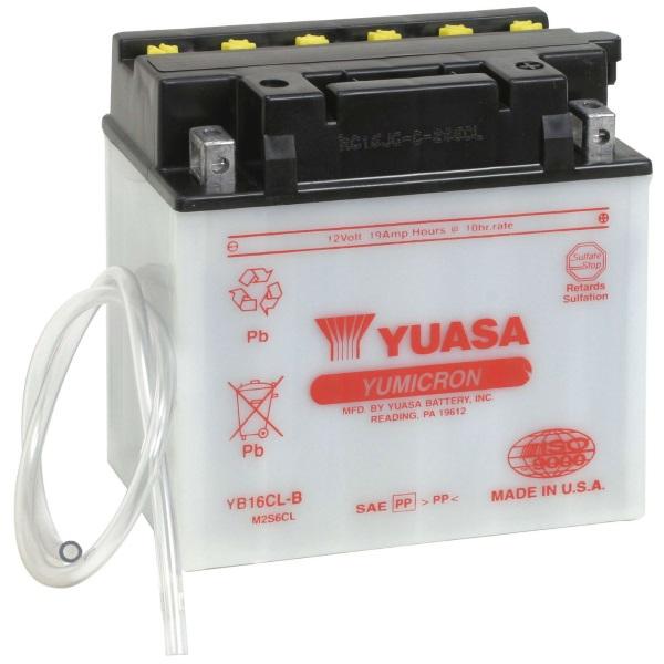 Мото аккумулятор АКБ YUASA (Юаса) YB16CL-B 19Ач о.п.