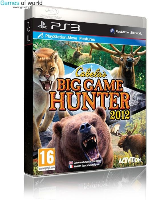Игра Cabela's Big Game Hunter 2012 (PS3, PS Move)