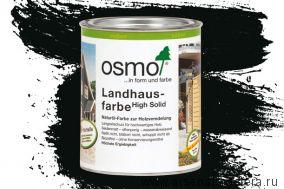 Непрозрачная краска для наружных работ Osmo Landhausfarbe 2703 cеро-чёрная 0,75 л