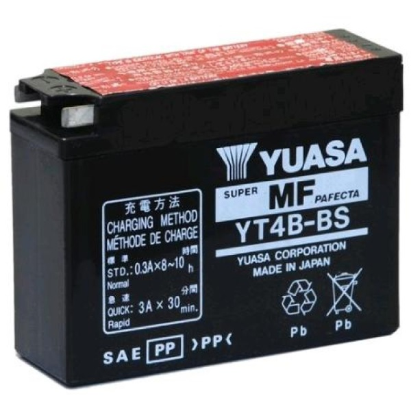 Мото аккумулятор АКБ YUASA (Юаса) YT4B-BS YT4B-5 2,3Ач о.п.
