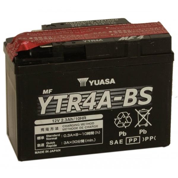Мото аккумулятор АКБ YUASA (Юаса) YTR4A-BS 2,3Ач п.п.