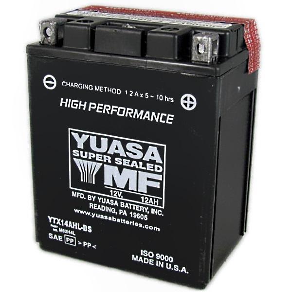 Мото аккумулятор АКБ YUASA (Юаса) YTX14AHL-BS 14L-A2, 14L-B2 12Ач о.п.
