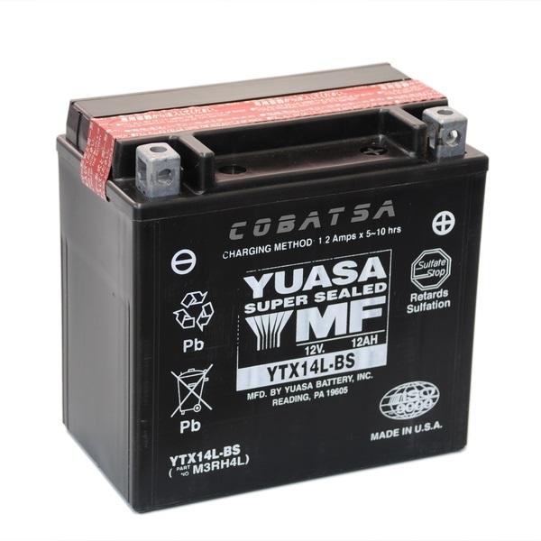 Мото аккумулятор АКБ YUASA (Юаса) YTX14L-BS 12Ач о.п.