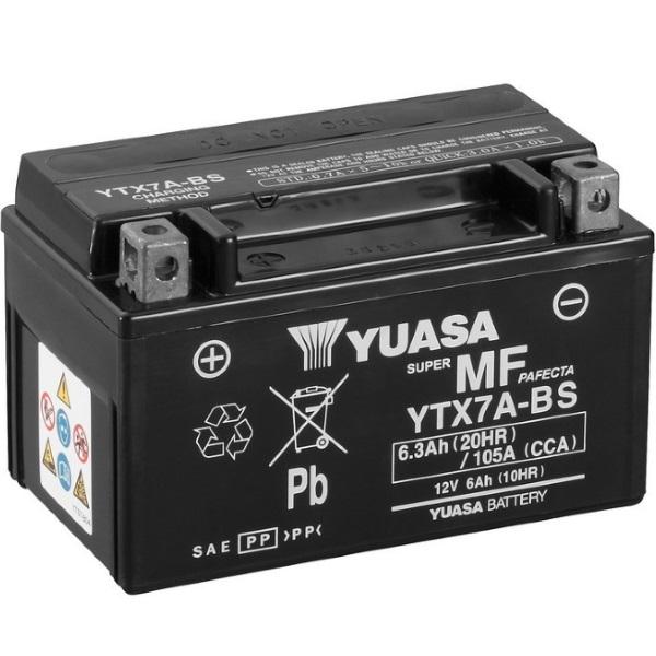 Мото аккумулятор АКБ YUASA (Юаса) YTX7A-BS 6Ач п.п.