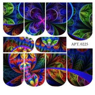 Слайдер-дизайн для ногтей № 0225