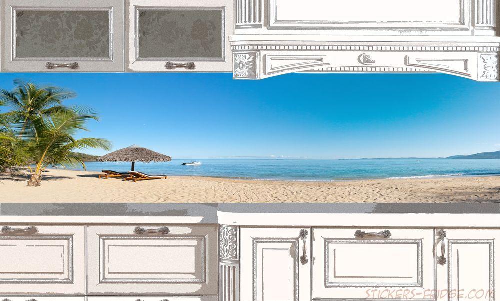 Фартук для кухни - Пляж