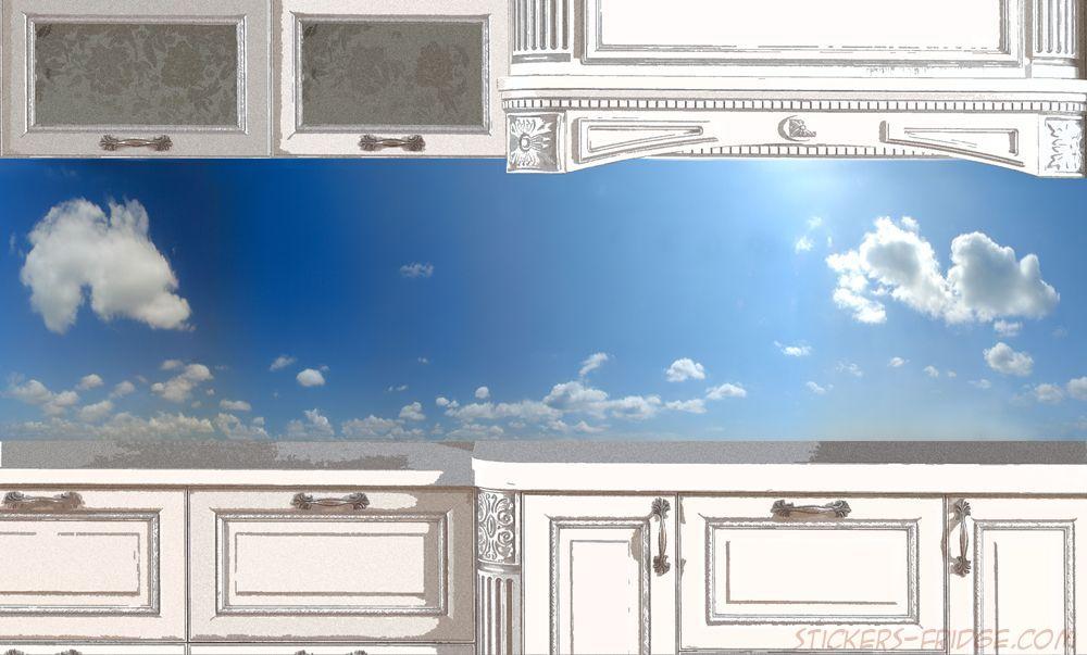 Фартук для кухни - Небо-день