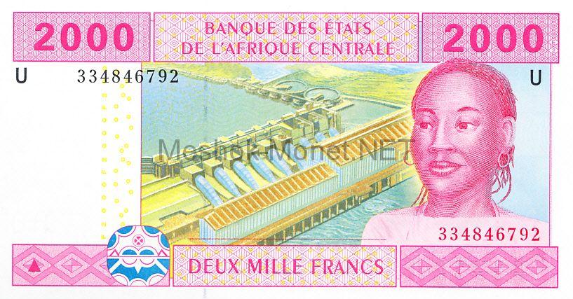 Банкнота Камерун 2000 франков 2002 год