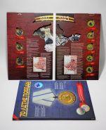 Набор цветных монет 70 лет Победы в ВОВ в капсульном альбоме(Крымская тематика)