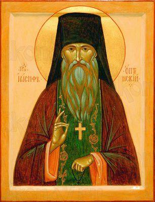 Иосиф Оптинский (рукописная икона)