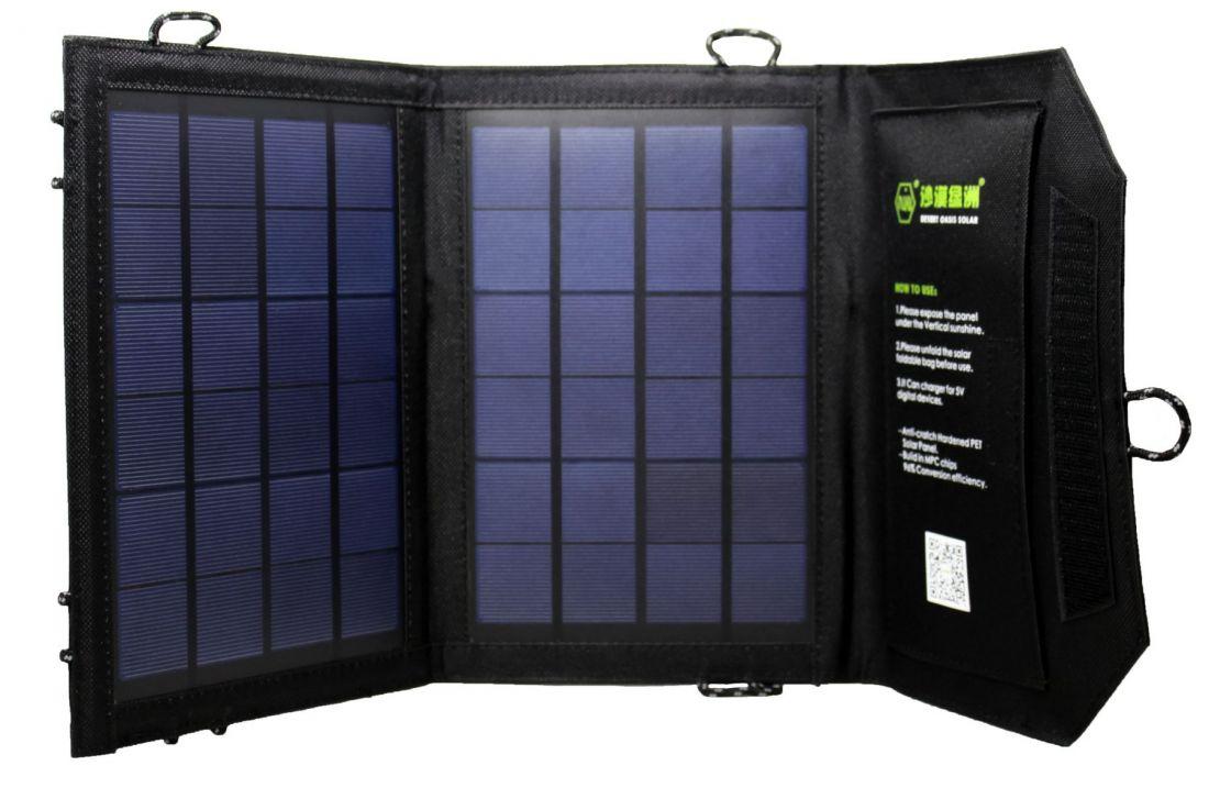 Солнечная батарея 7W / 2 панели / 1 USB-порт / 5V 1,4A