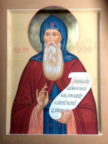 Арсений Великий (рукописная икона)