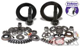 Yukon Gear & Install Kit package for Jeep TJ with Dana 30 front and Model 35 rear, 4.56 ratio