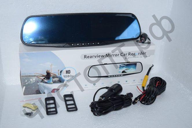Видеорегистр.- зеркало заднего вида 501   HD, 3.5 д. диспл., + дополнит. камера
