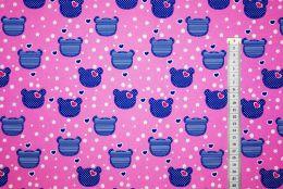 Мишки на розовом  Дюспа 240Т