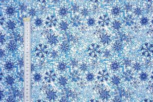 Тёмно-синие снежинки Дюспа 240Т