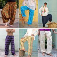 Купить индийские хлопковые мужские и женские штаны мелким оптом