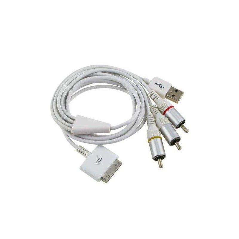 Кабель AV для iPhone 3/4, iPad 2/3