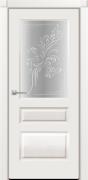 Белый, стекло узор матовое