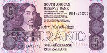 Банкнота Южная Африка 5 рандов 1990 - 1994 год