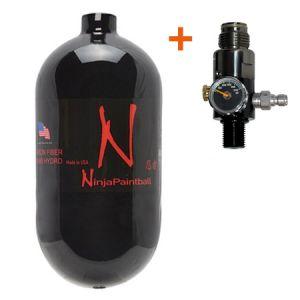 Баллон Ninja Black 90ci (1,5л) + Регулятор PE 4500 psi