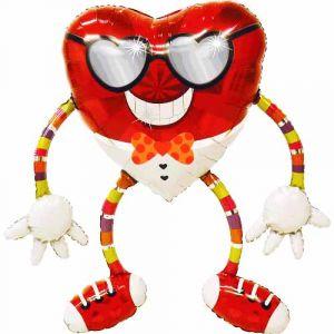 Шар ходячий Сердце в очках (111 см.)