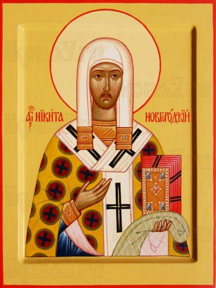 Никита Новгородский (рукописная икона)
